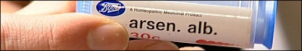 Arsen is a homeopathic rememdy derived from arsenic