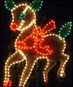 Lit up reindeer