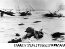 Omaha beach by Robert Capa