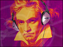 Beethoven in headphones