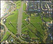 A bird's eye view of Plymouth Hoe