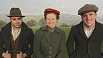 Peter Ginn, Ruth Goodman and Alex Langlands greet the arrival of spring on their Edwardian Farm