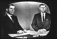 Presidential candidates Richard Nixon (left), later the 37th President of the United States, and John F Kennedy, the 35th President, during a televised debate in 1960