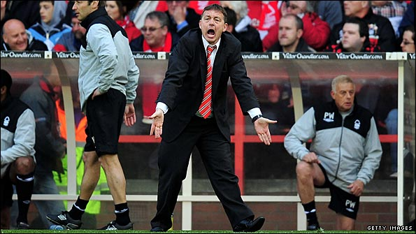 Billy Davies in animated mood