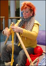 Ingrid Wagner knits with giant needles