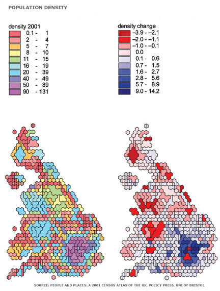 Show Map Of England.Bbc Mark Easton S Uk Map Of The Week Crowded Britain