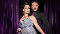 Natalie Cassidy and Vincent Simone take to the floor in the celebrity dance contest