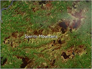 Sperrin Mountains map