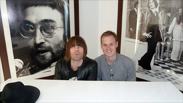 Liam Gallagher and Dan Walker