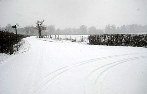 Snow in Berkshire, February 2009.