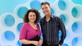 Nadia Sawalha and Jonty Heaversedge