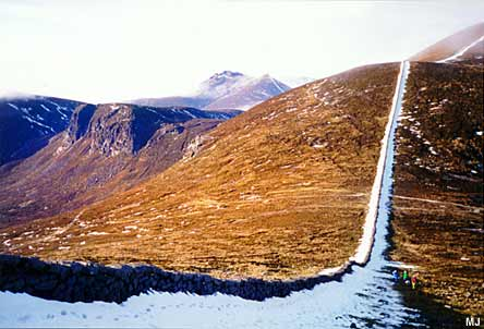 Snow along the Mourne wall