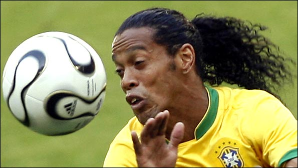 Ronaldinho in full flow at the 2006 World Cup finals in Germany