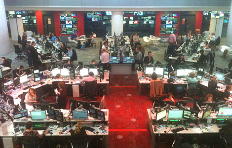 The open-plan newsroom