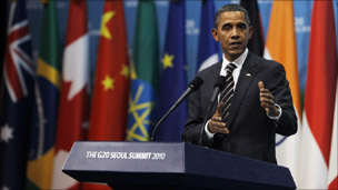 President Barack Obama at the G20 in Seoul