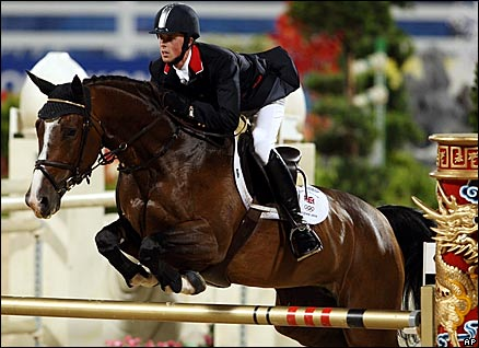 Ben Maher, 25, produced Britain's only clear round