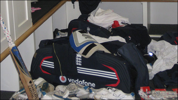 Andrew Flintoff's corner of the England dressing-room