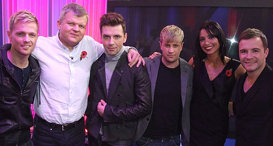 Adrian and Christine with Westlife