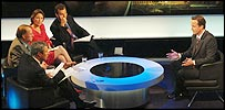 David Cameron and the Newsnight panel
