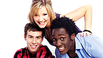 Joel DeFries, Helen Skelton, and Andy Akinwolere announce the winner of the Blue Peter Book Of The Year Award 2010