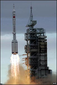 Chinese space shuttle Shenzhou VI launch in 2005