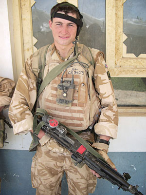 The late Private Chris Gray in Afghanistan