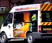 Speed camera van