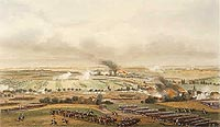 Painting which shows the battleground at Ligny