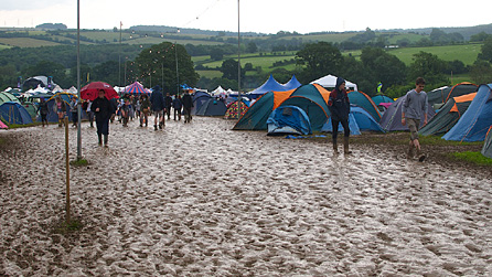Muddy site at 2000 Trees