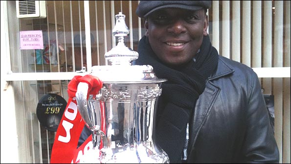 Garth Crooks with the FA Cup