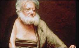 Bill Reimbold as Socrates in a BBC 2 production
