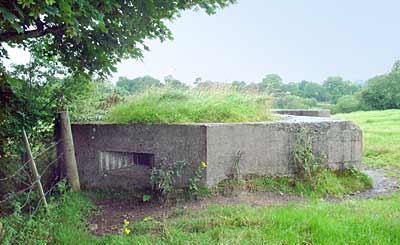 Pill Box on the banks of the River Bann just off the Gilford to Portadown Road