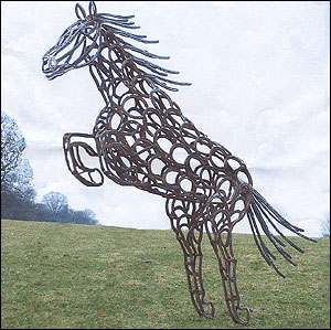 A Horse Made From Horseshoes