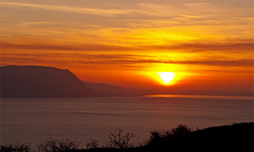 Sunset from the Great Orme. Image by Glyn Roberts