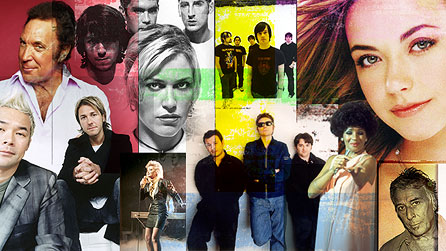 A montage of Welsh pop stars