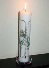 An Advent candle