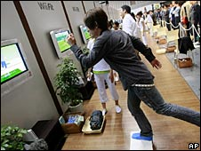 Man playing Wii