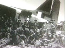 From the photo album of  Richard Perkins. 1941 and his tropp of Chindits pictured shortly before embarking on the aircraft taking them behind Japanese lines in the bloody Burma campaign.