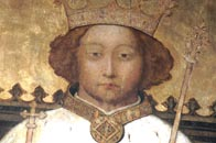 Portrait style painting showing a young king Richard II