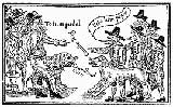 Image of roundheads and cavaliers with dogs
