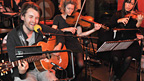 Fyfe Dangerfield performs on Simon Mayo's show with violinists.