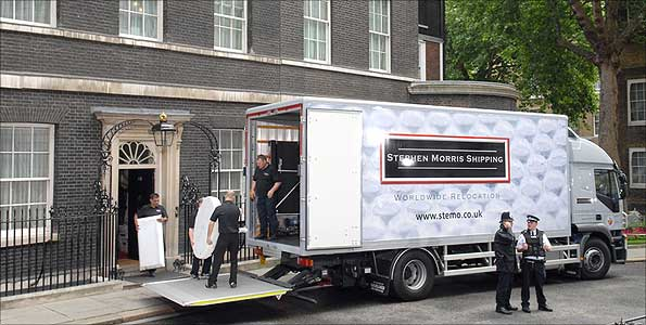 Image result for removal van at 10 downing street