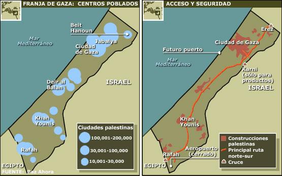 Franja De Gaza Mapa.Bbc Mundo Seis Dias Mapas Clave
