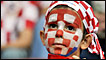 Young Croatian football fan