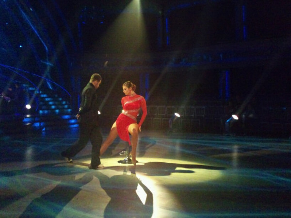 Here's Holly and Artem...