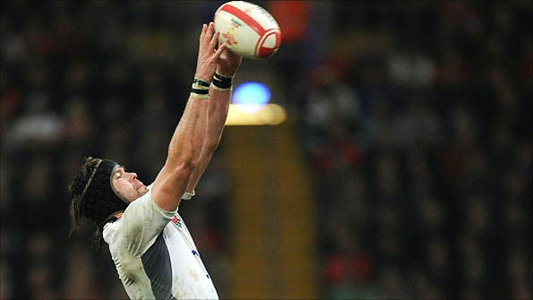Tom Palmer in action for England against Wales