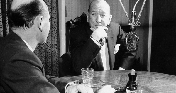 Roy Plomley and Noel Coward on Desert Island Discs in 1963, for the 21st anniversary of the programme.