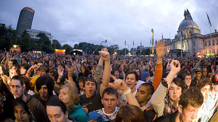 Crowd at Cardiff Big Weekend