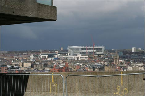 View of St James' Park from Gateshead car park