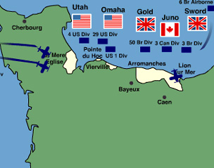 Normandy Landings Map BBC   History   World Wars: Animated Map: The D Day Landings